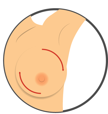 Check Your Breast In A Circle